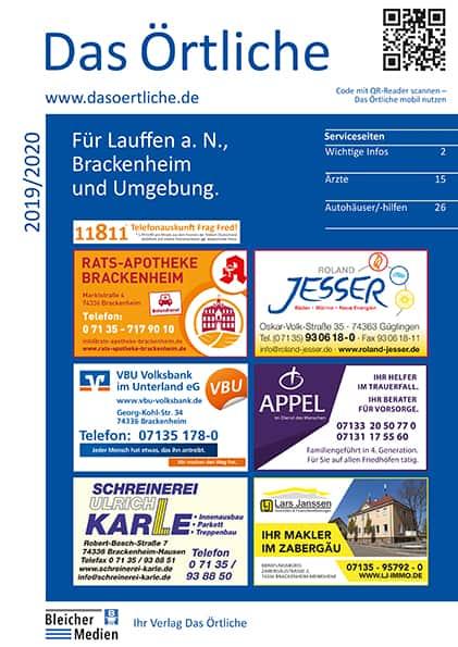 Das Örtliche für Lauffen a.N., Brackenheim und Umgebung 2019/2020