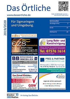 Das Örtliche für Sigmaringen und Umgebung 2019/2020