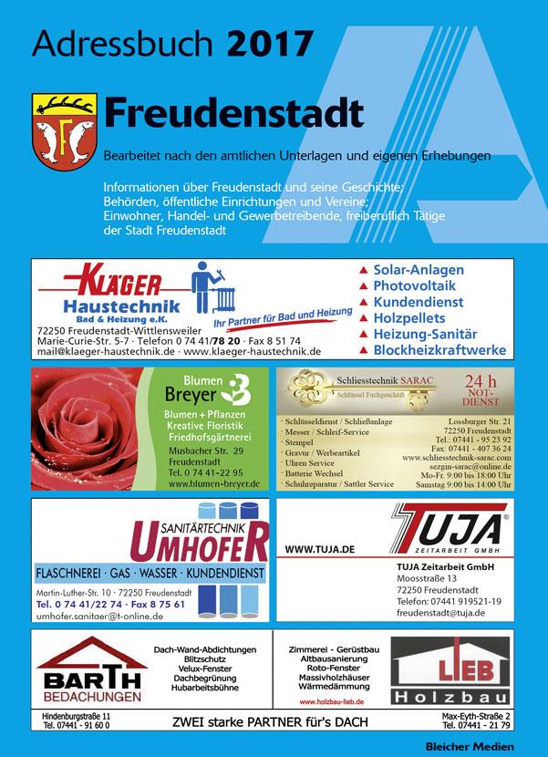 Adressbuch Freudenstadt