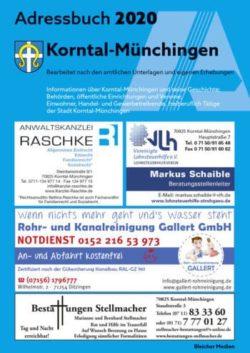 Ab Sofort Erhältlich – Das Adressbuch 2020 Für Korntal-Münchingen