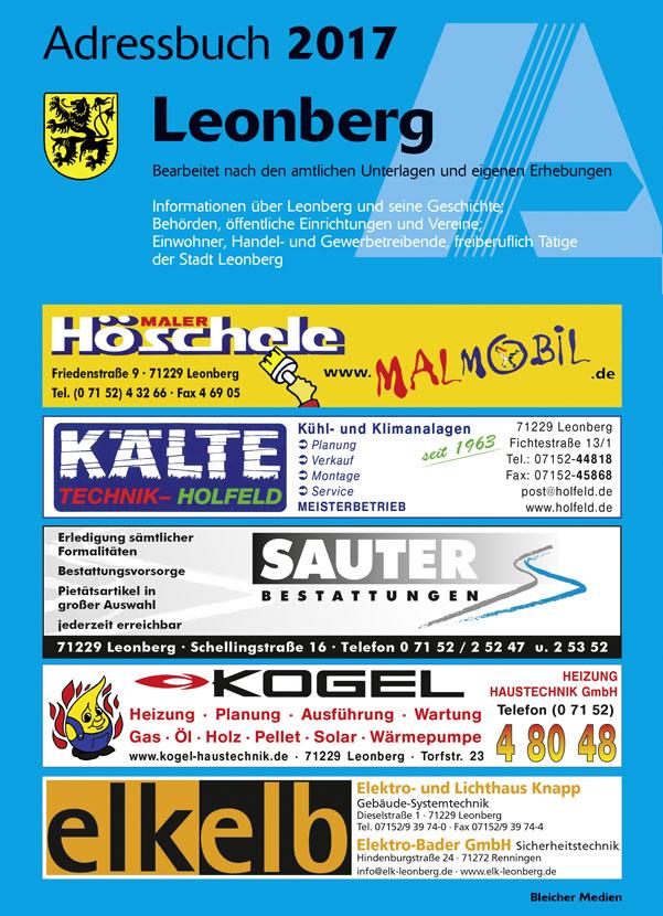 Adressbuch Leonberg