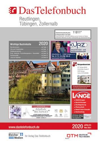DasTelefonbuch Reutlingen, Tübingen, Zollernalb 2020