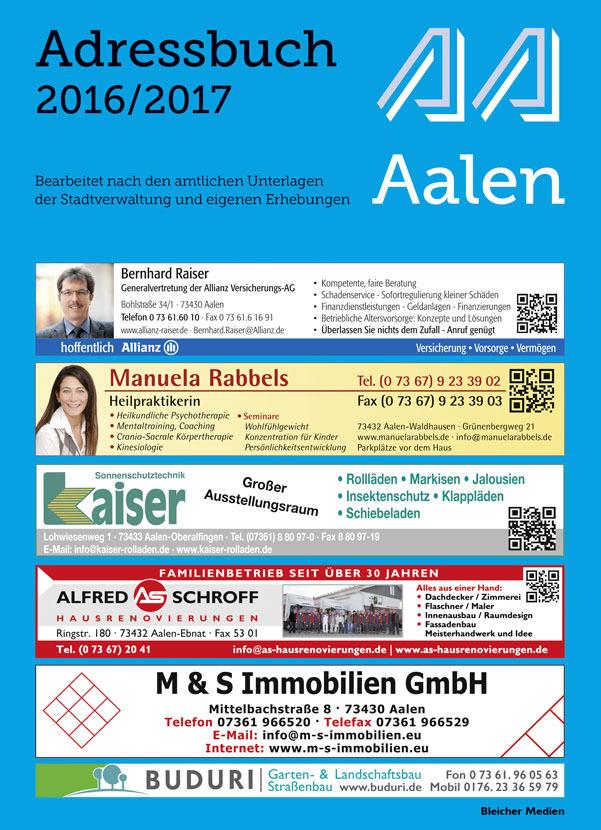 Adressbuch Aalen 2016/2017