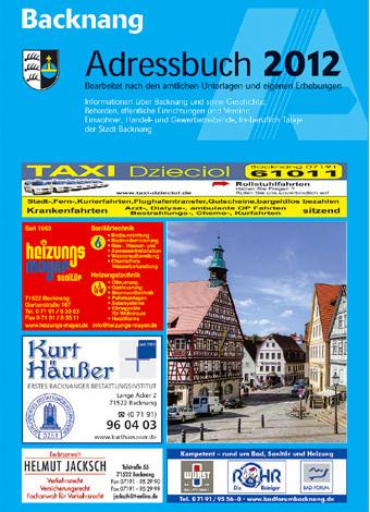 Adressbuch Backnang 2012