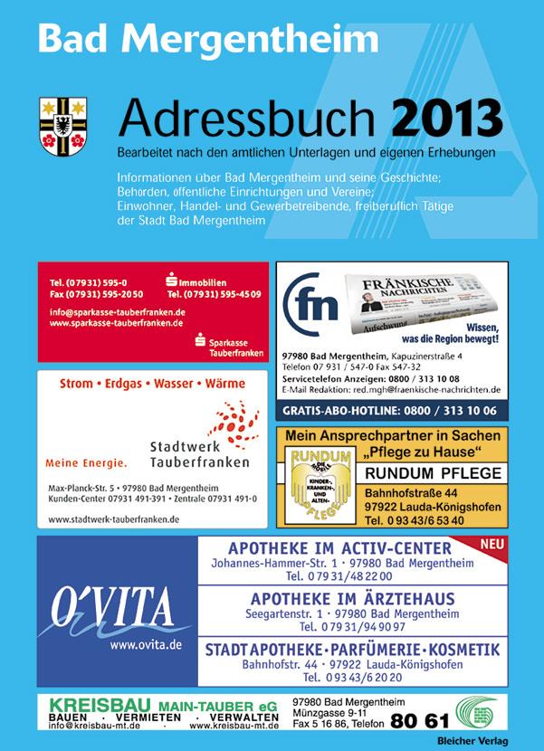 Adressbuch Bad Mergentheim 2013