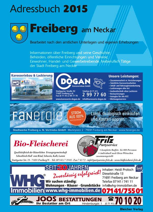 Adressbuch Freiberg am Neckar 2015
