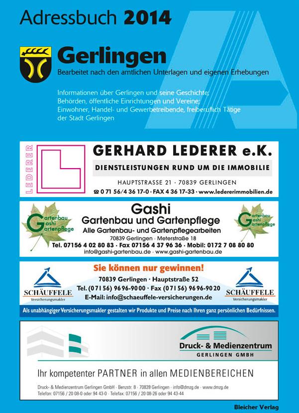 Adressbuch Gerlingen