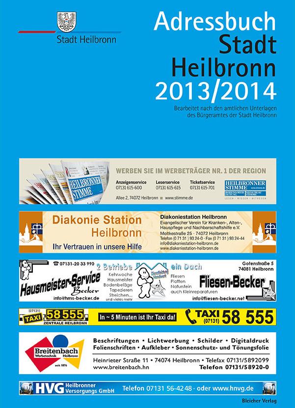 Adressbuch Heilbronn 2013/2014
