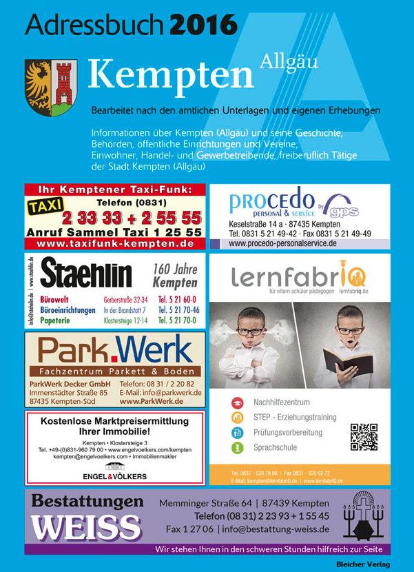 Adressbuch Kempten 2016