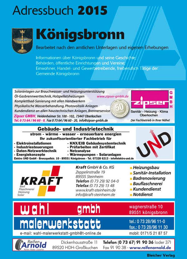Adressbuch Königsbronn 2015