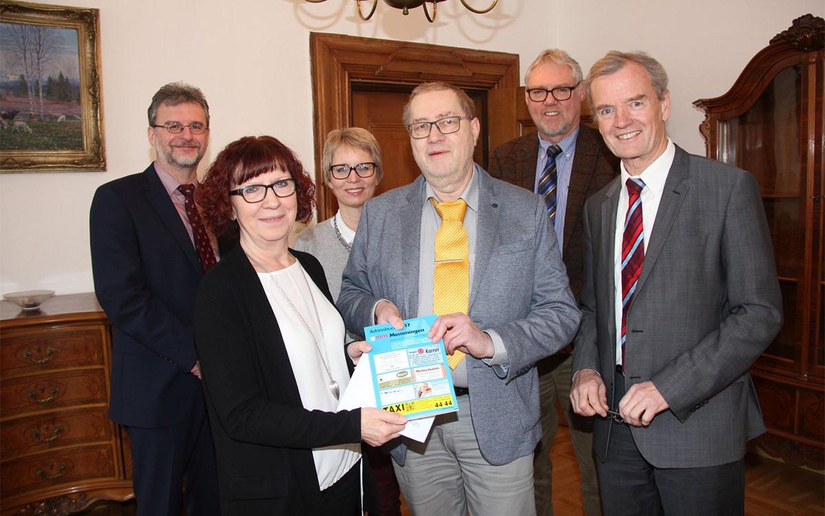 Übergabe Adressbuch Memmingen 2017