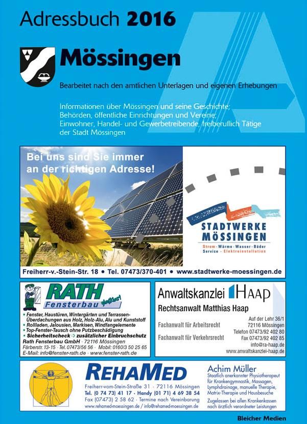 Adressbuch Mössingen 2016