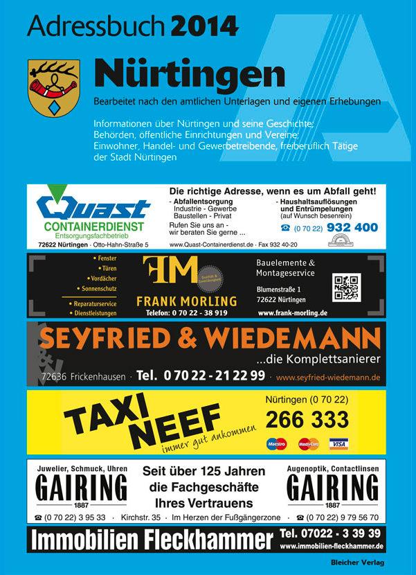 Adressbuch Nürtingen 2014
