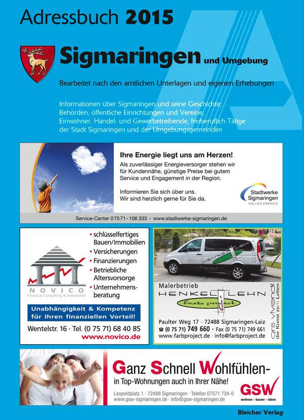Adressbuch Sigmaringen 2015