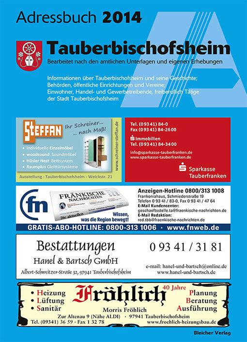Adressbuch Tauberbischofsheim 2014