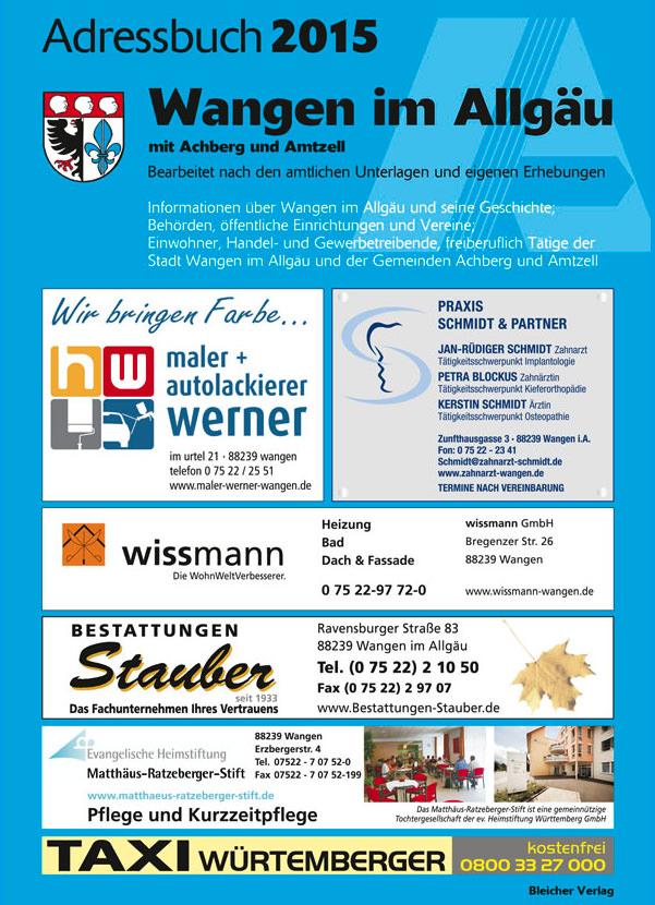 Adressbuch Wangen im Allgäu 2015