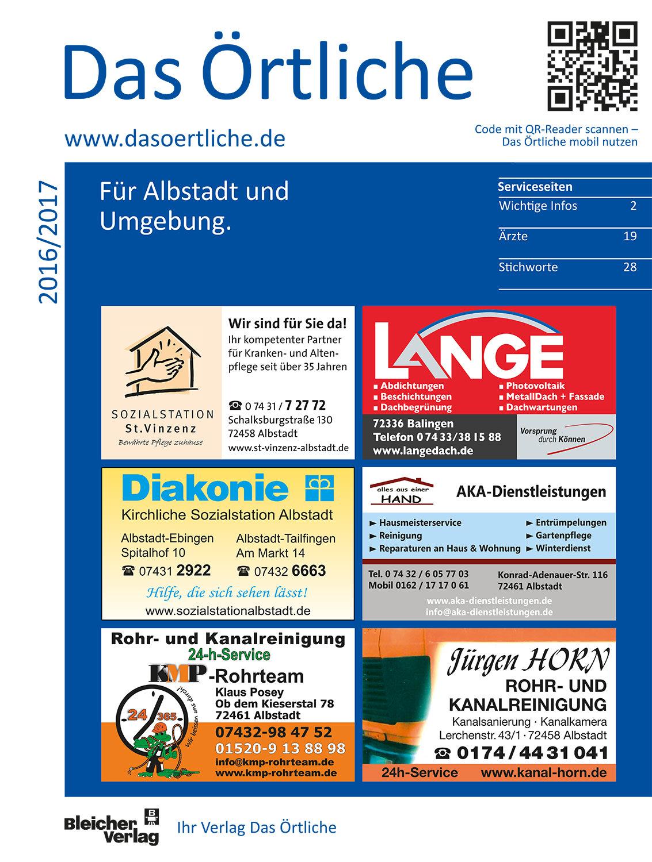 Das Örtliche für Albstadt und Umgebung 2016/2017