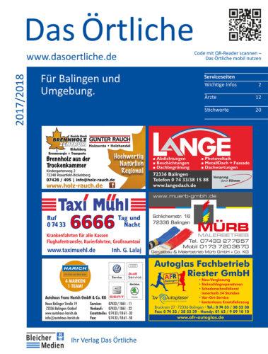 Das Örtliche für Balingen und Umgebung Ausgabe 2017/2018