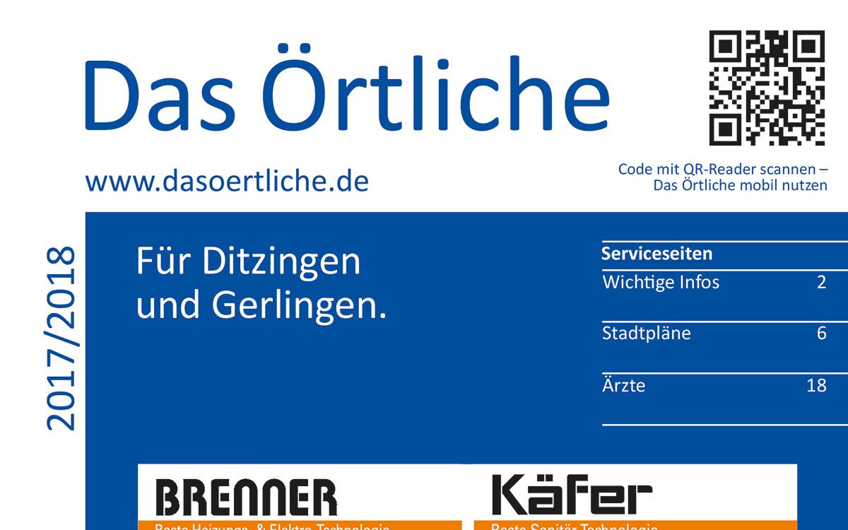 Neue Ausgabe Von Das Örtliche Für Ditzingen Und Gerlingen 2017/2018