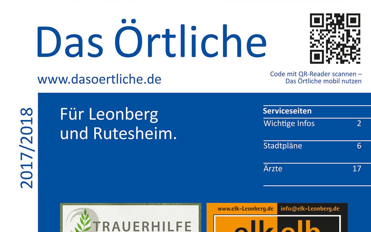Das Neue Örtliche Für Leonberg Und Rutesheim Ist Da!