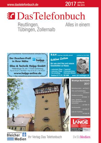 DasTelefonbuch Reutlingen, Tübingen, Zollernalb 2016/2017
