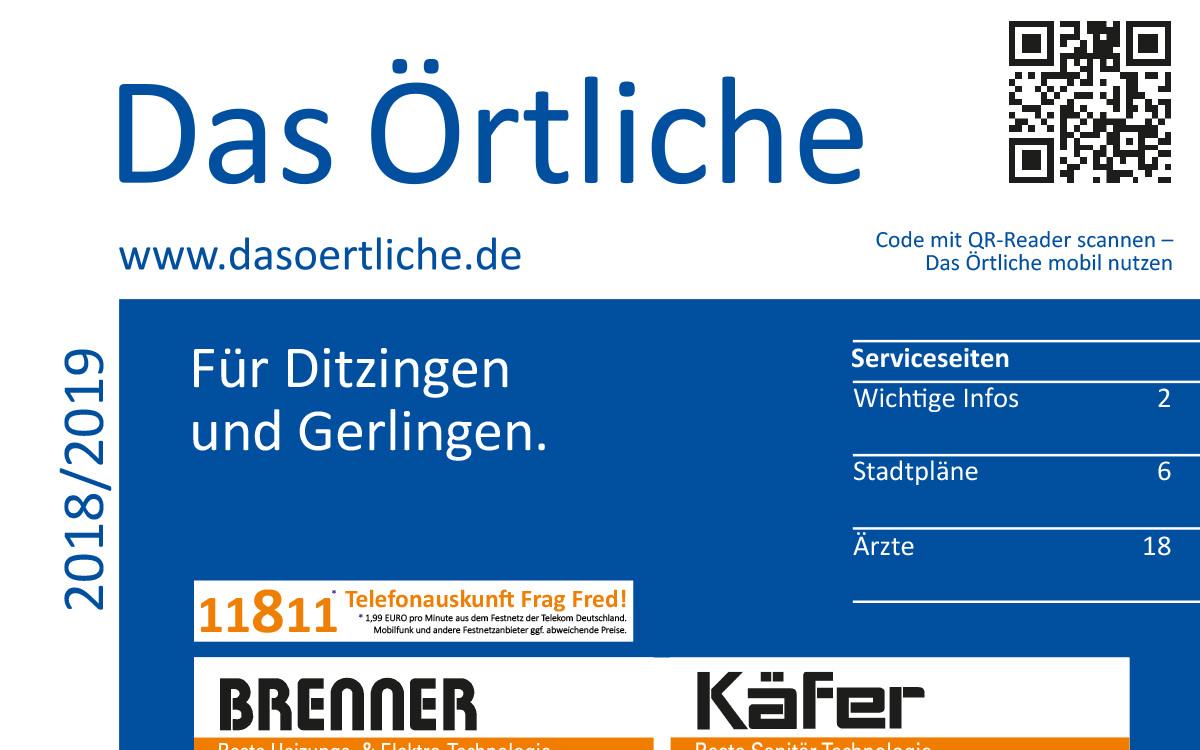 Das Örtliche Für Ditzingen Und Gerlingen Ausgabe 2018/2019