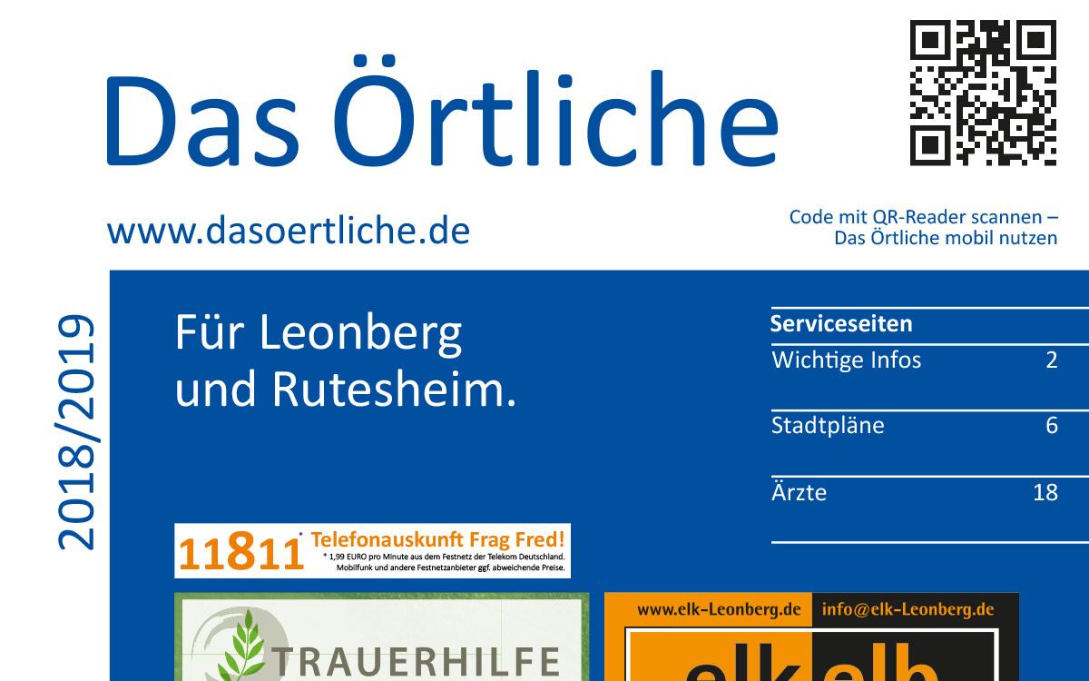 Das Örtliche Für Leonberg Und Rutesheim Ausgabe 2018/2019