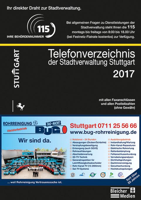 Telefonverzeichnis der Stadtverwaltung Stuttgart 2017