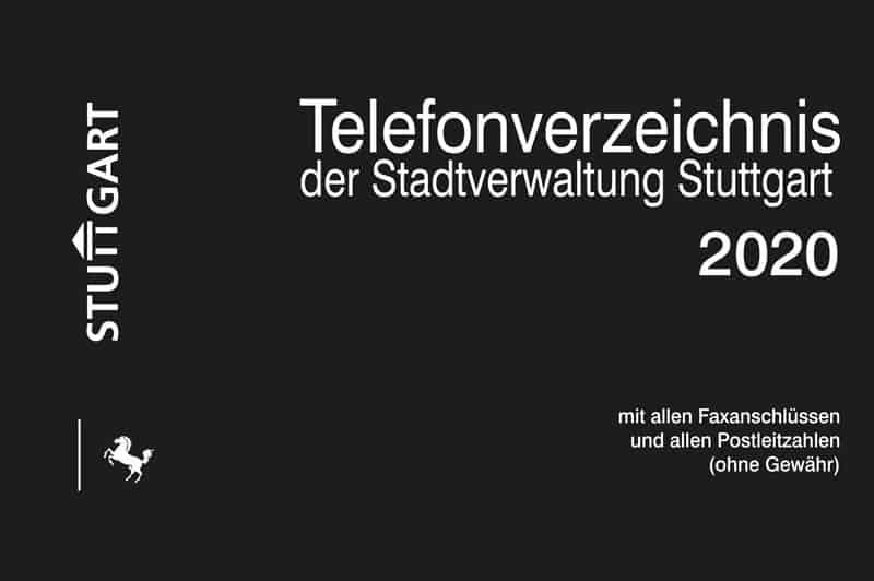 Telefonverzeichnis Der Stadtverwaltung Stuttgart