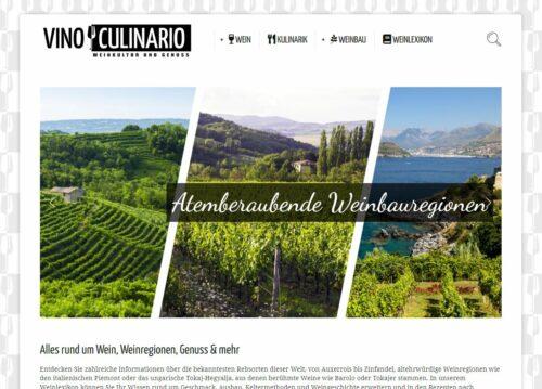 Vino-Culinario.de Screenshot (Home)