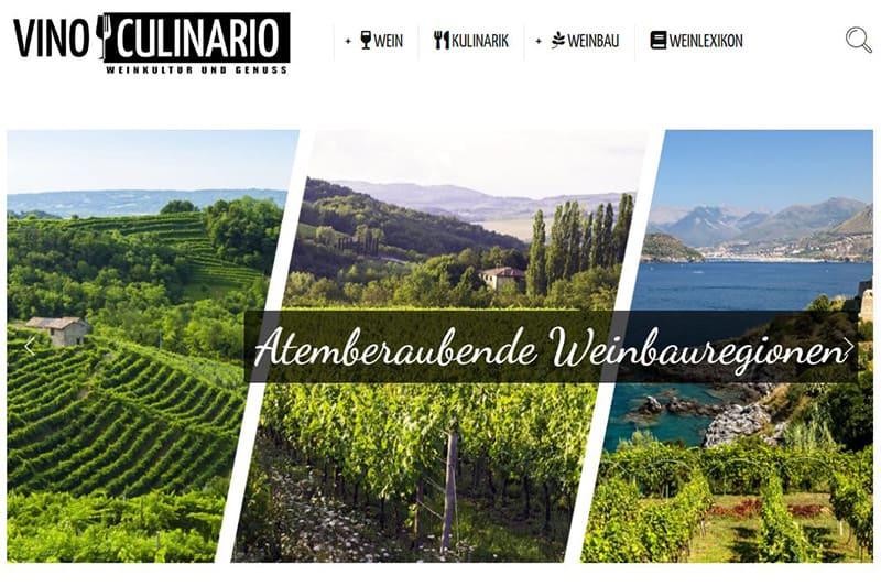 """Weinportal """"Vino Culinario – Weinkultur & Genuss"""" Geht An Den Start"""