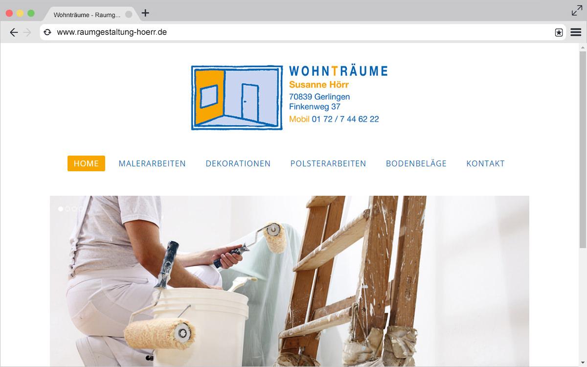 Website: Raumgestaltung Hörr