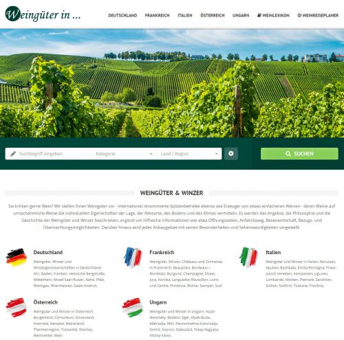 Weingueter-in.de: Weinreiseportal